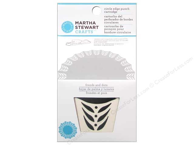 Martha Stewart Circle Edge Punch Cartridge Fronds and Dots
