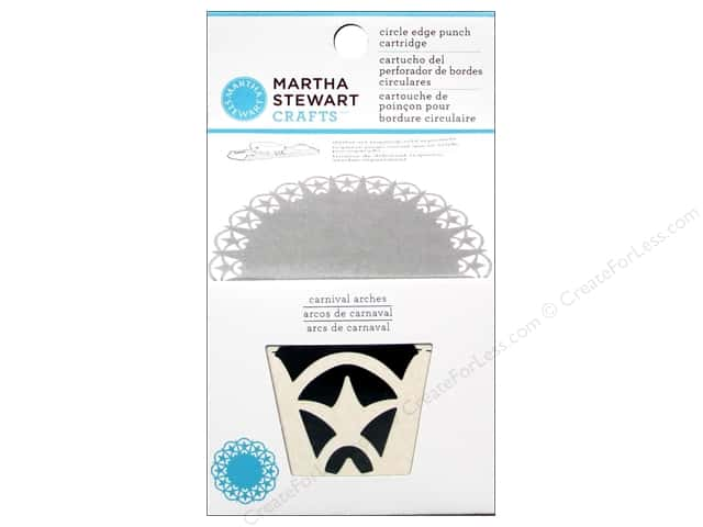 Martha Stewart Circle Edge Punch Cartridge Carnival Arches