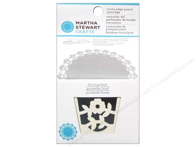 Martha Stewart Circle Edge Punch Cartridge Floral Garland