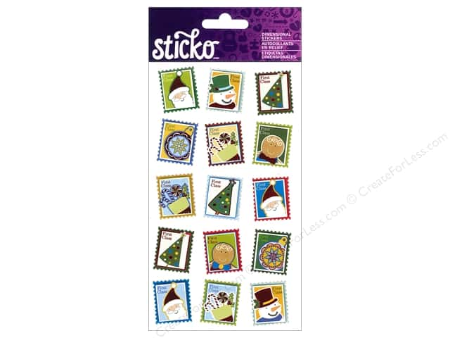 EK Sticko Stickers Christmas Postage Stamps