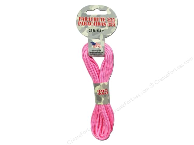 Pepperell 325 Parachute Cord 21 ft. Pink