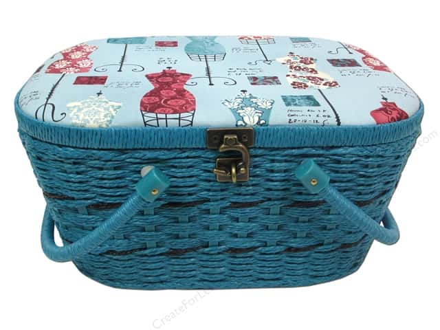St Jane Sewing Baskets Picnic Shape Blue