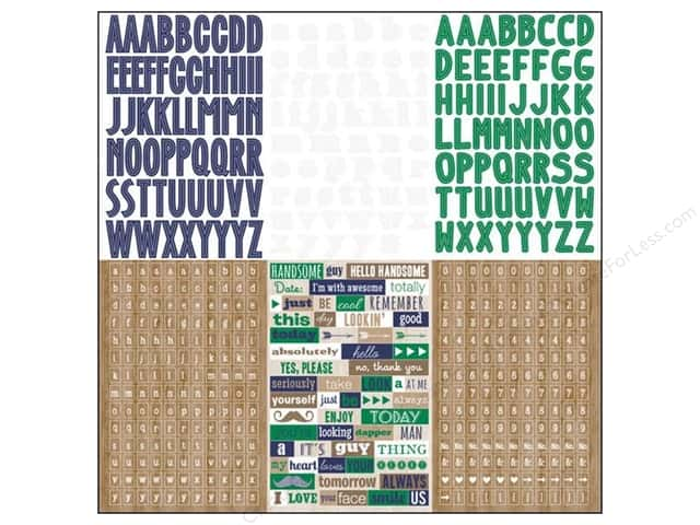 "Glitz Design Sticker Dapper Dan 12""x 12"" Alphabets & Words"