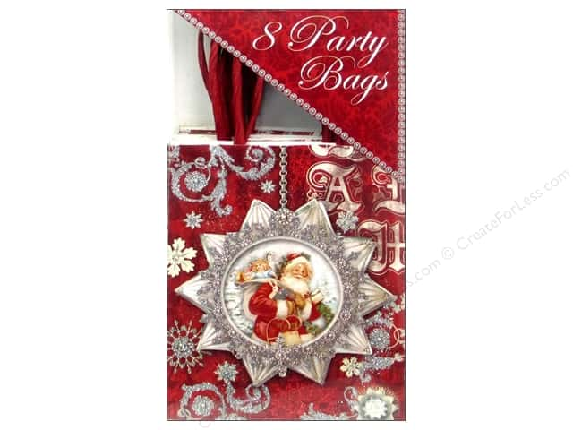 Punch Studio Party Bags Silver Shimmer Box 8pc