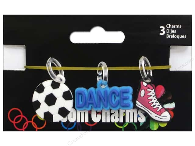 Midwest Design Loom Band Charm Sport Assorted 3pc