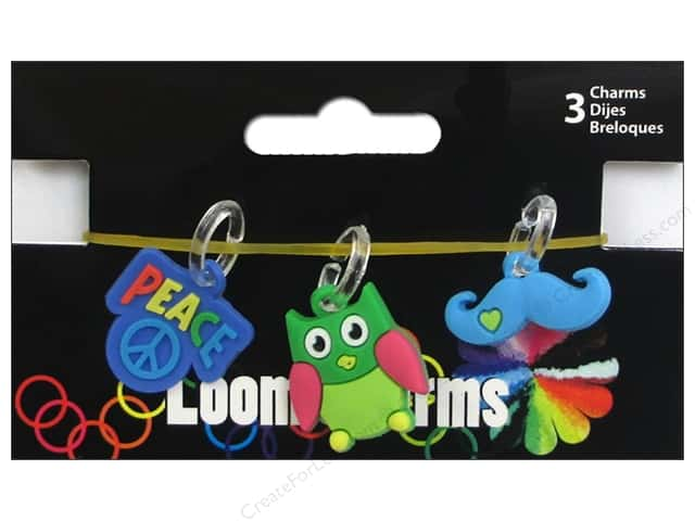 Midwest Design Loom Band Charm Retro Assorted 3pc