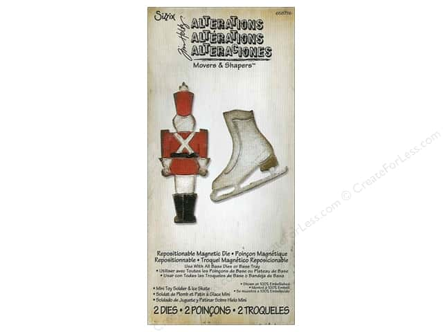 Sizzix Movers & Shapers Magnetic Die Set 2PK Mini Toy Soldier & Ice Skate by Tim Holtz