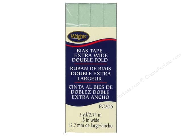 Wrights Extra Wide Double Fold Bias Tape 3 yd. Sea Foam
