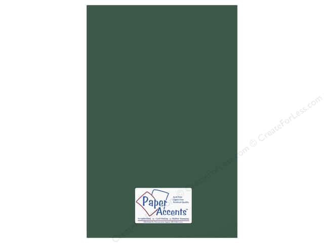 Paper Accents Adhesive Vinyl 12 x 24 in. Removable Dark Green (12 pieces)