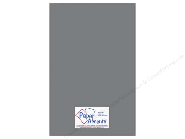 Paper Accents Adhesive Vinyl 12 x 24 in. Removable Gray (12 pieces)