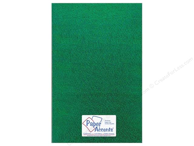 Paper Accents Adhesive Vinyl 12 x 24 in. Removable Sparkle Green (12 pieces)
