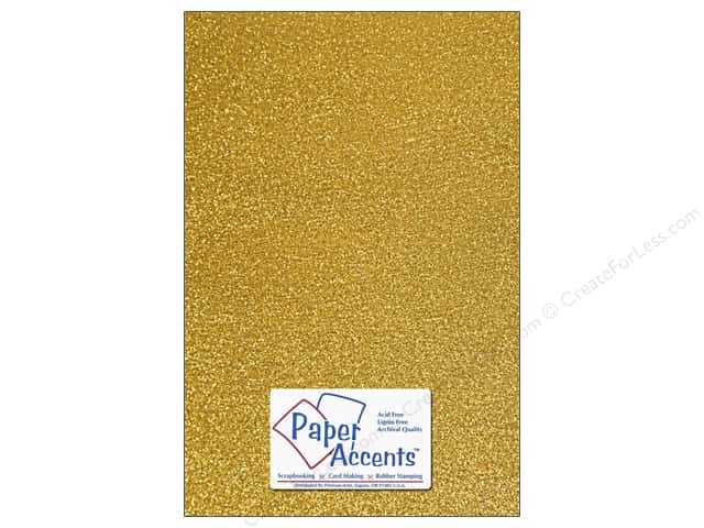 Paper Accents Adhesive Vinyl 12 x 24 in. Removable Sparkle Gold (12 pieces)