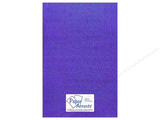 Paper Accents Adhesive Vinyl 12 x 24 in. Removable Sparkle Purple (12 pieces)