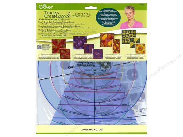 Clover Trace 'n Create Quilt Templates Carefree Curves by Nancy Zieman