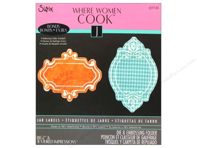 Sizzix Bigz Die with Bonus Textured Impressions Jar Labels by Where Women Cook