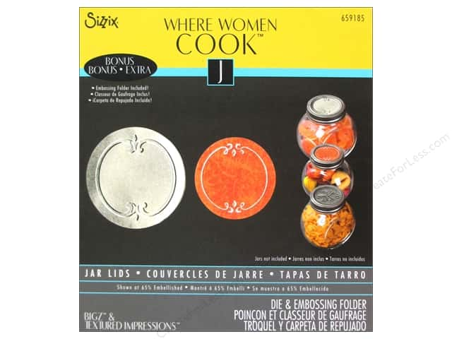 Sizzix Bigz Die with Bonus Textured Impressions Jar Lids by Where Women Cook