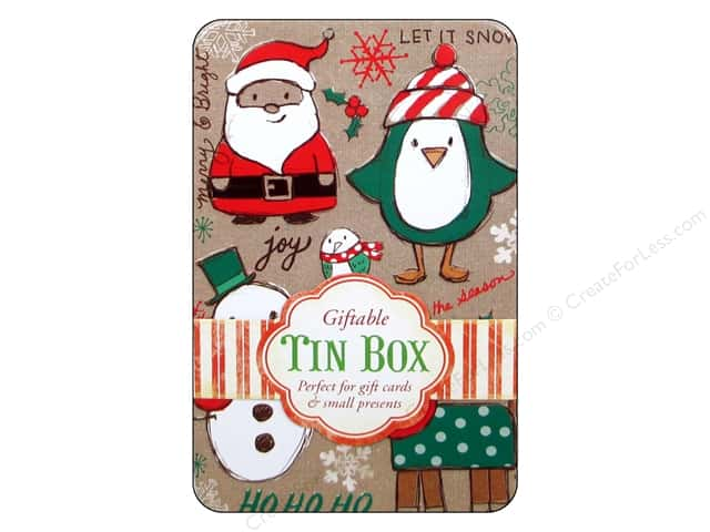 Punch Studio Gift Card Holder Holiday Craft Tin