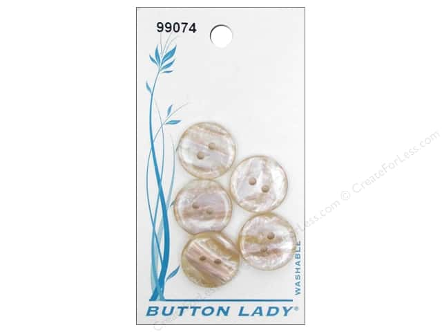 JHB Button Lady Buttons 5/8 in. Beige #99074 5 pc.