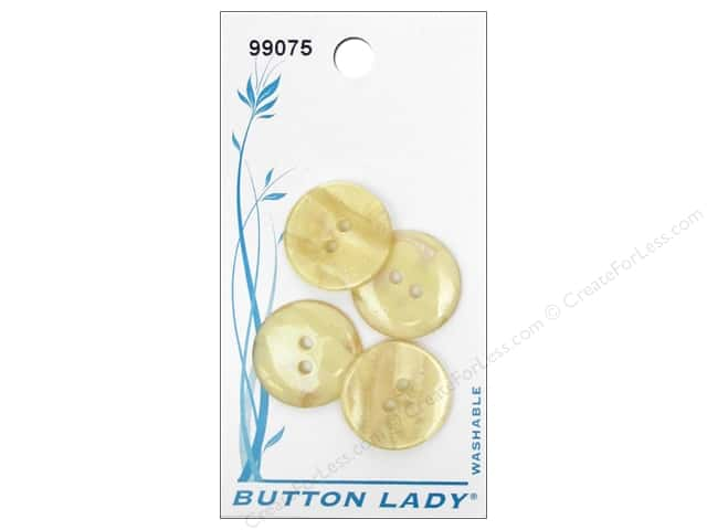 JHB Button Lady Buttons 3/4 in. Beige #99075 4 pc.