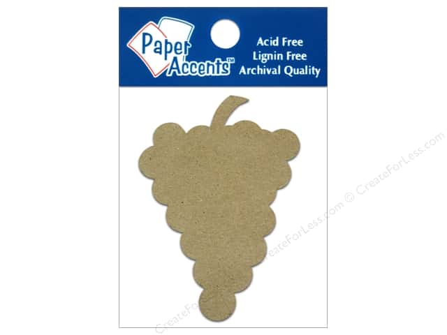 Paper Accents Chipboard Shape Grapes 8 pc. Kraft