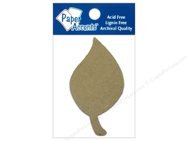 Paper Accents Chipboard Shape Leaf 8 pc. Kraft