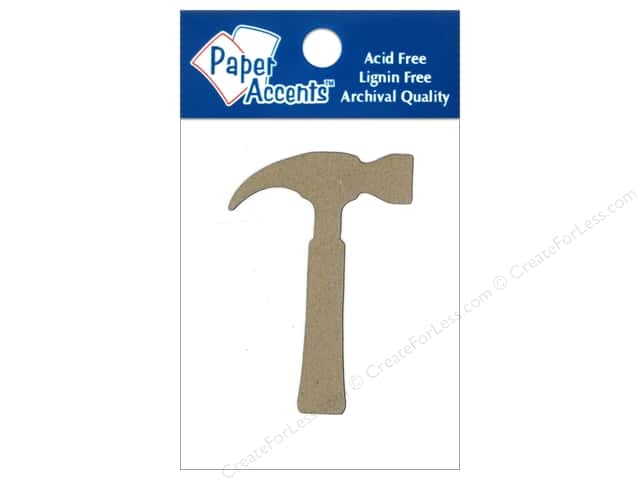 Paper Accents Chipboard Shape Hammer 8 pc. Kraft
