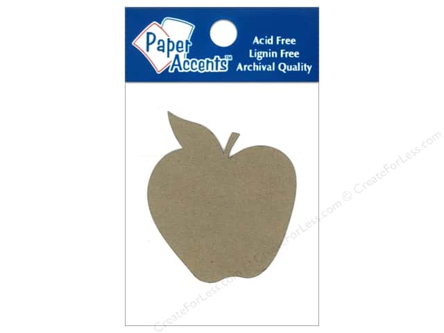Paper Accents Chipboard Shape Apple 8 pc. Kraft