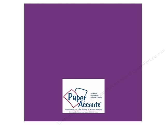 Cardstock 12 x 12 in. #10014 Stash Builder Blackberry by Paper Accents (25 sheets)