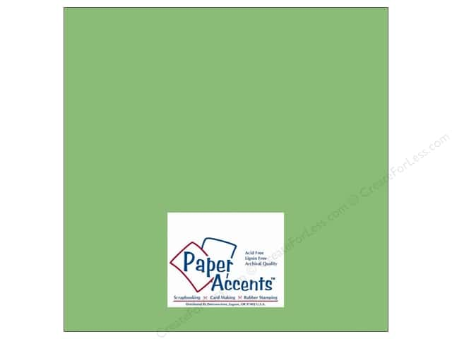 Cardstock 12 x 12 in. #10031 Stash Builder Spring Green by Paper Accents (25 sheets)