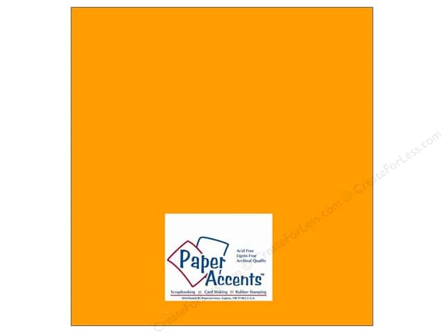 Cardstock 12 x 12 in. #10044 Stash Builder Egg Yolk by Paper Accents (25 sheets)