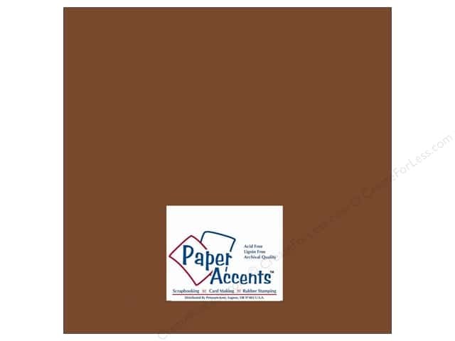 Cardstock 12 x 12 in. #10066 Smooth Espresso by Paper Accents (25 sheets)