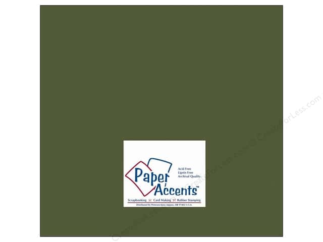 Cardstock 12 x 12 in. #10088 Stash Builder Green Bean by Paper Accents (25 sheets)