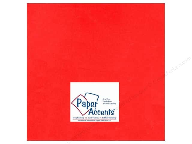 Cardstock 12 x 12 in. #101 Smooth Red by Paper Accents (25 sheets)