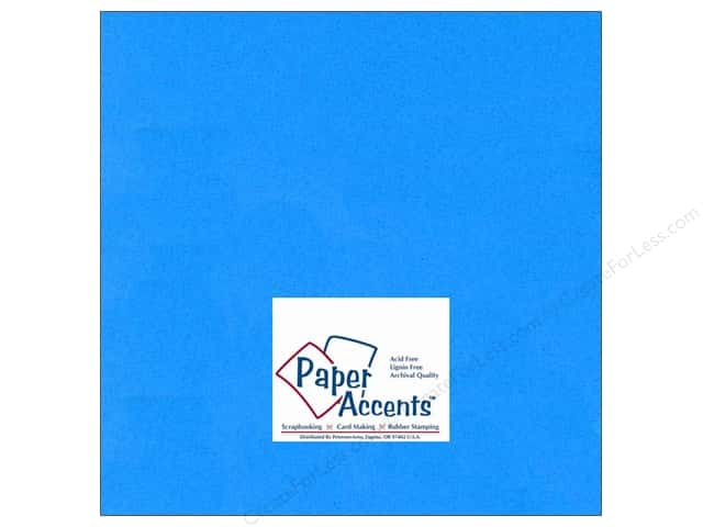 Cardstock 12 x 12 in. #103 Smooth Blue by Paper Accents (25 sheets)