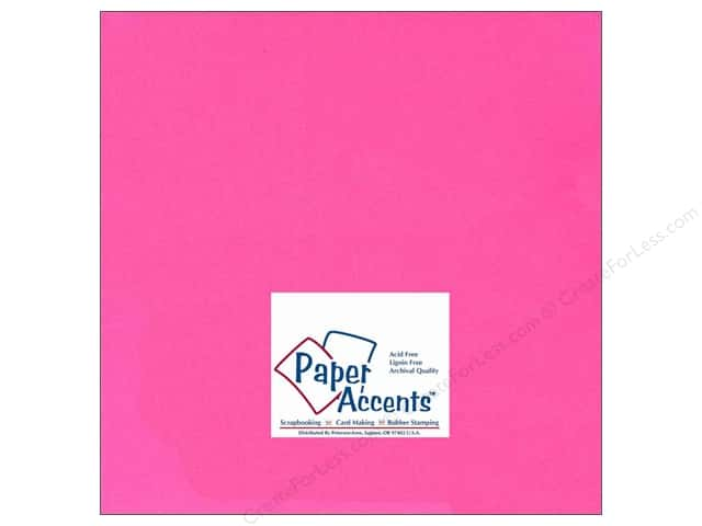 Cardstock 12 x 12 in. #106 Smooth Electric Pink by Paper Accents (25 sheets)