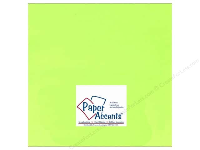 Cardstock 12 x 12 in. #107 Smooth Electric Green by Paper Accents (25 sheets)