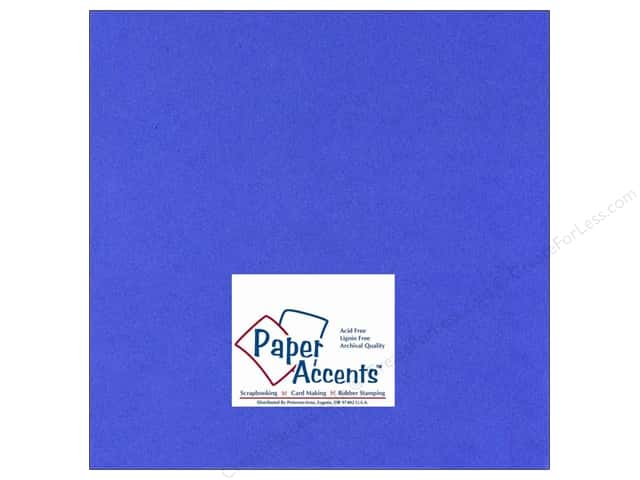 Cardstock 12 x 12 in. #111 Smooth Cobalt by Paper Accents (25 sheets)