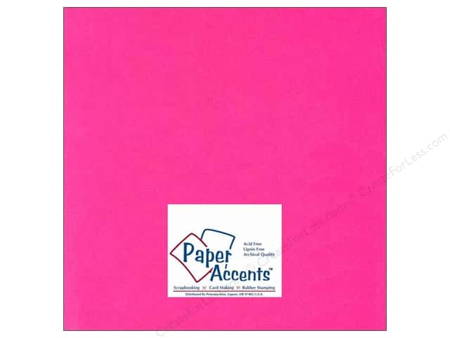 Cardstock 12 x 12 in. #112 Smooth Fuchsia by Paper Accents (25 sheets)