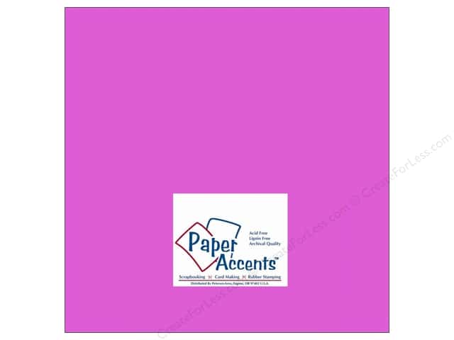 Cardstock 12 x 12 in. #114 Smooth Purple by Paper Accents (25 sheets)