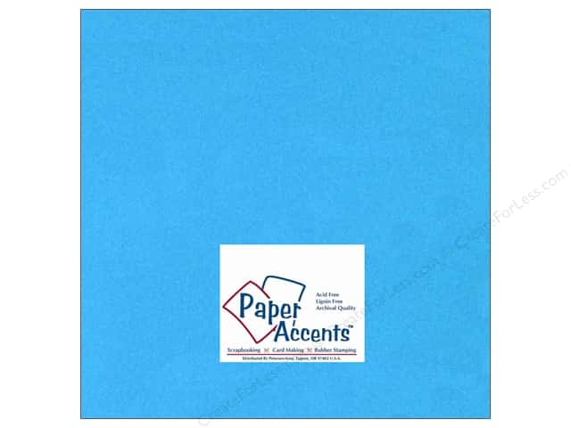 Cardstock 12 x 12 in. #115 Smooth Teal by Paper Accents (25 sheets)