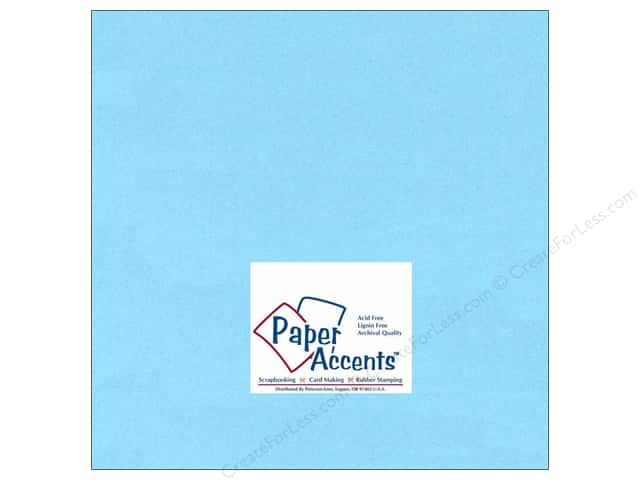 Cardstock 12 x 12 in. #116 Smooth Light Blue by Paper Accents (25 sheets)