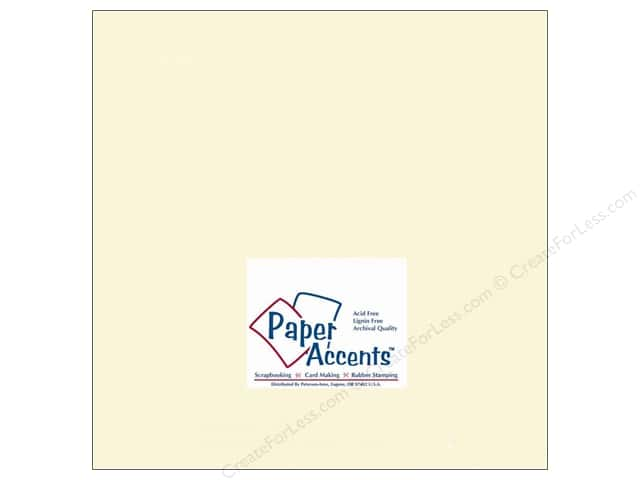 Cardstock 12 x 12 in. #119 Smooth Cream by Paper Accents (25 sheets)