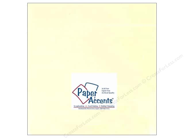 Cardstock 12 x 12 in. #122 Smooth Ivory by Paper Accents (25 sheets)