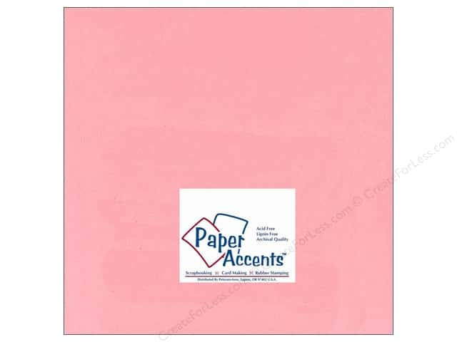 Cardstock 12 x 12 in. #124 Smooth Light Pink by Paper Accents (25 sheets)