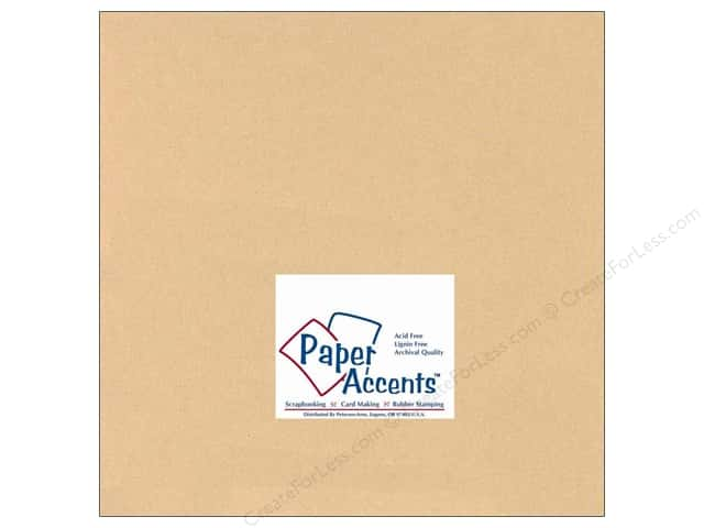 Cardstock 12 x 12 in. #126 Smooth Tan by Paper Accents (25 sheets)