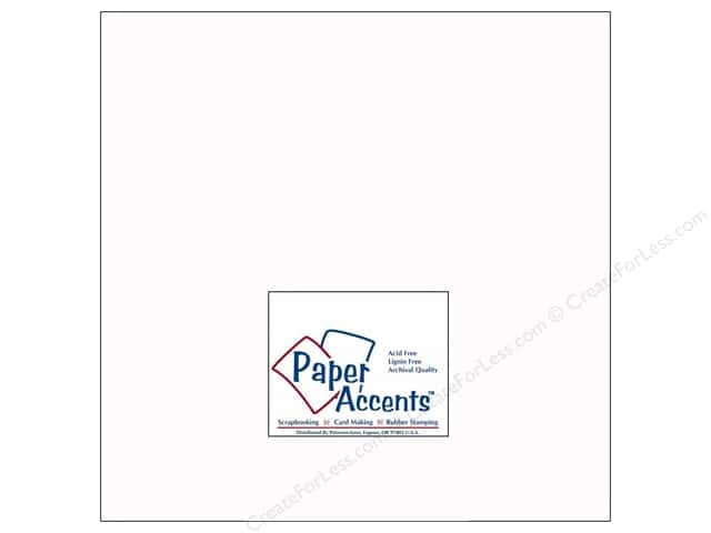 Cardstock 12 x 12 in. #128H Smooth White - 100 lb. by Paper Accents (25 sheets)