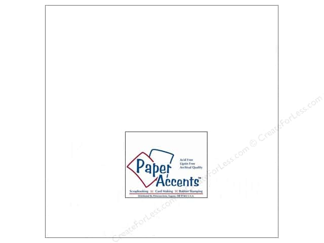 Cardstock 12 x 12 in. #129 Smooth Matte White by Paper Accents (25 sheets)