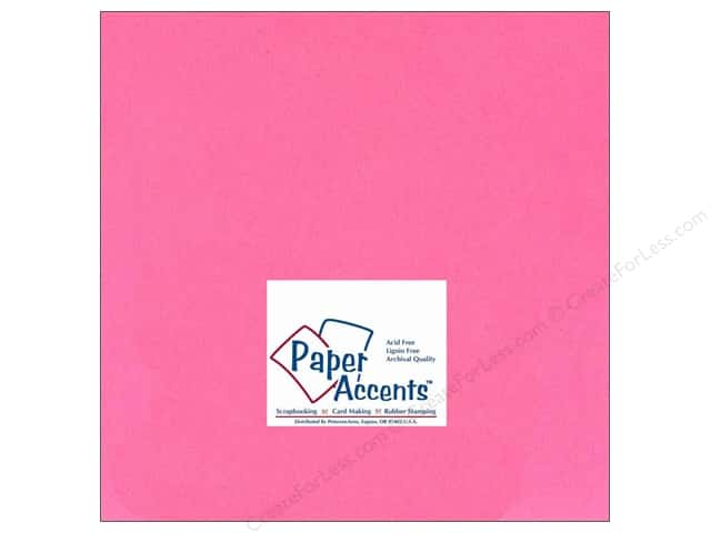 Cardstock 12 x 12 in. #130 Smooth Rose by Paper Accents (25 sheets)