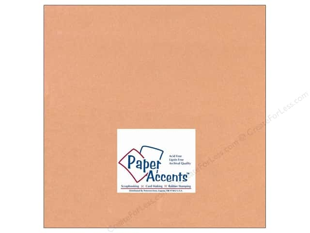 Cardstock 12 x 12 in. #133 Smooth Carmel by Paper Accents (25 sheets)
