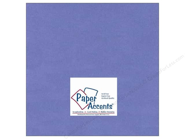 Cardstock 12 x 12 in. #134 Smooth Periwinkle by Paper Accents (25 sheets)